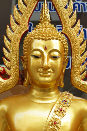 The gold buddha in sitting action in Bangkok, Thailand Stock Photo - 18107399