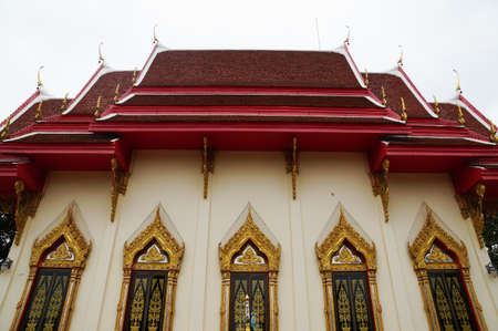 The five window of chapel at Wat Huay Mongkol in Thailand photo
