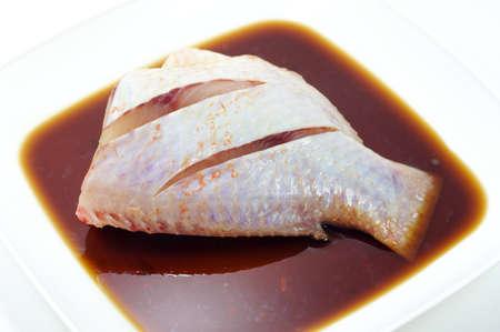 mango fish: The mango fish for cooking isolated on white background Stock Photo