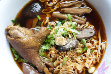 entrails: The stewed duck noodles with entrails Stock Photo