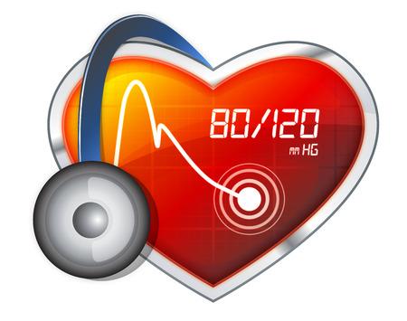 Blood Pressure Monitoring - Illustration - Stock Image
