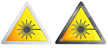 laser hazard sign: Laser Hazard Sign - Illustration