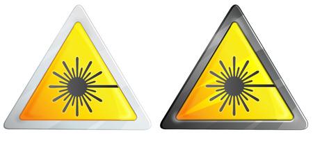 Laser Hazard Sign - Illustration
