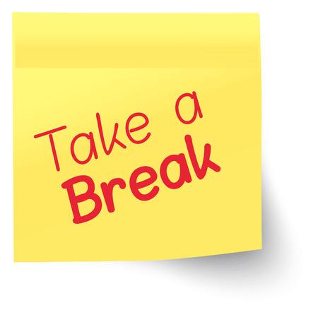 explaining: Marker Note - Take a Break illustration as EPS 10 File