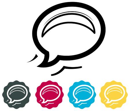 Chat Icon Illustration Illustration