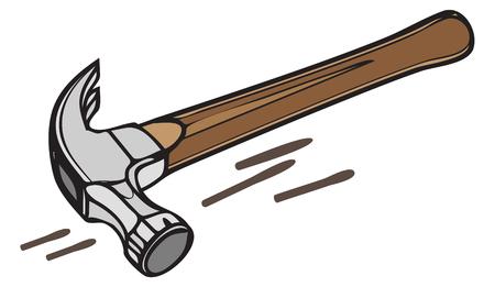 Construction Tool - Hammer - Illustration Illustration