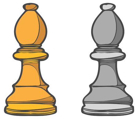 chess board: Bishop Role - Business Concept Analogies - Illustration as EPS 10 File