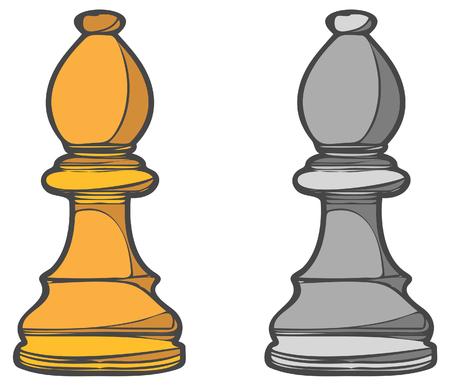 Bisschoprol - Bedrijfsconceptanalogie - Illustratie als EPS 10-bestand Stock Illustratie