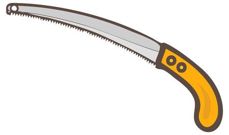 Construction Tool - Curved HackSaw Illustration as EPS 10 File. Illustration