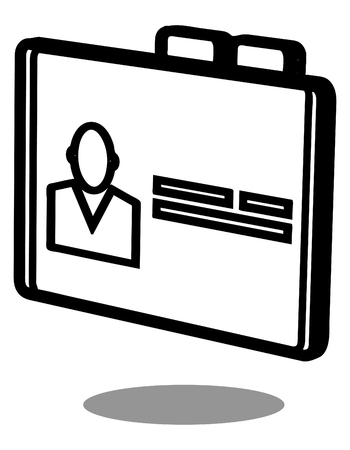 Icon - Id Card - Illustration as EPS 10 File