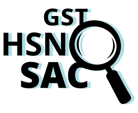 lookup: GST SAC HNS - Lookup codes for India GST - Illustrations EPS 10 File Illustration