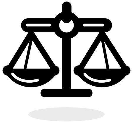 Justice Balance Icon as EPS 10 File Illustration