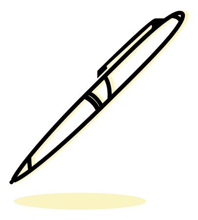 ballpoint: Ballpoint Pen Icon - Illustration