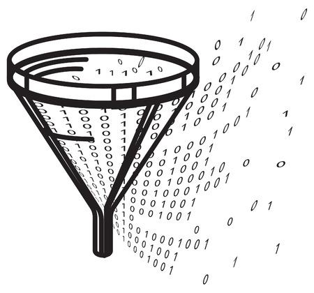 Data Filter - Illustration  EPS 10 File Illustration