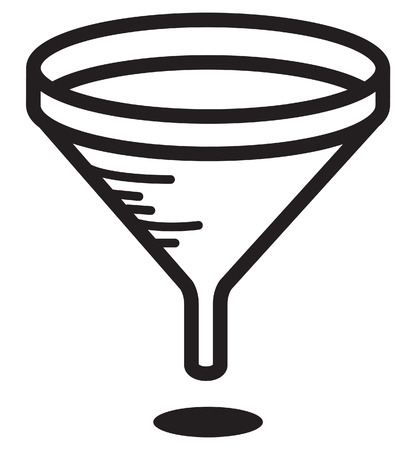 funnel icon vector illustration on white background.