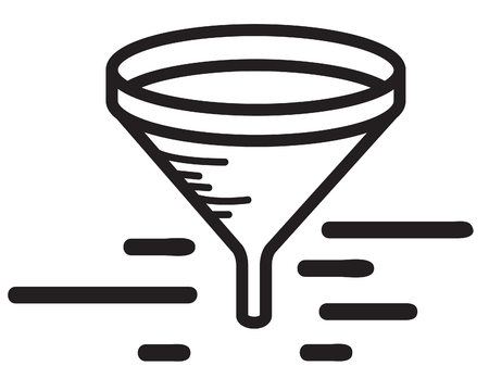 Icon - Funnel Filter - Illustration  EPS 10 File Illustration