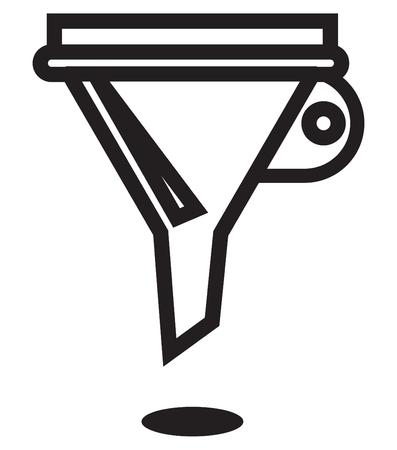 Icon - Funnel - Illustration  EPS 10 File