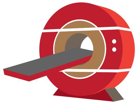 MRI Machine Icon Illustration as EPS 10 File