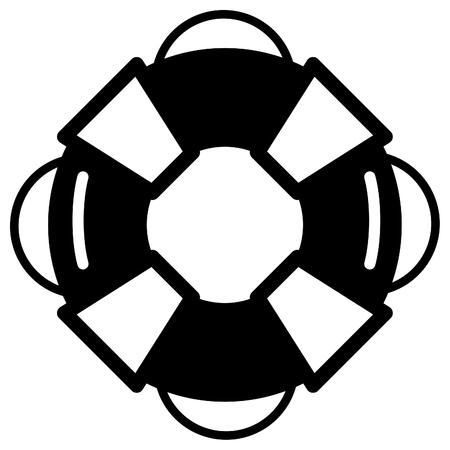 Lifebuoy - Icon Illustration as EPS 10 File