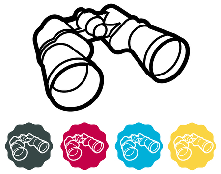 Binocular Icon - Illustration as EPS 10 File