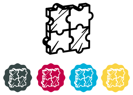 Puzzle block illustration as vector file.