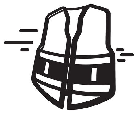 Veiligheidsvest - illustratiepictogram.