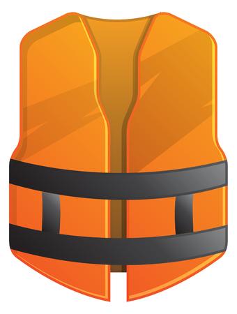 Safety vest - illustration icon. Illustration