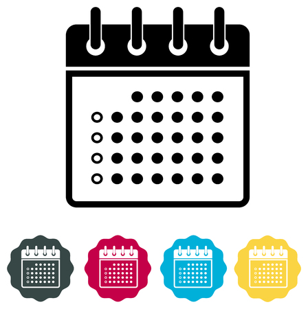 Calendar Organizer Icon vector Illustration isolated on plain background. Ilustração