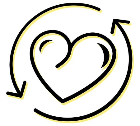 Comprehensive Heart Care Icon as EPS 10 File 向量圖像