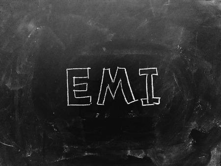 EMI Handwritten on Blackboard as JPG File