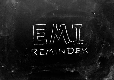 EMI Reminder handwritten on Blackboard