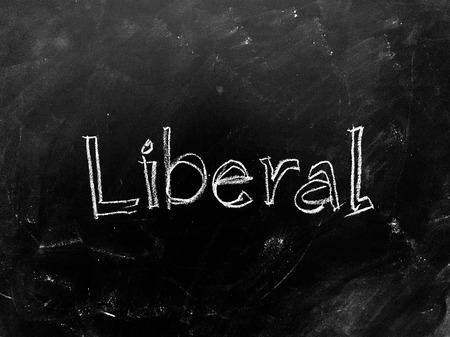 Liberal handwritten on Blackboard as JPG File Stok Fotoğraf