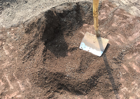 Organic Compost Manure with Spade as JPG File