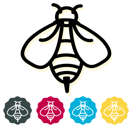 Honigbiene Symbol als EPS 10-Datei