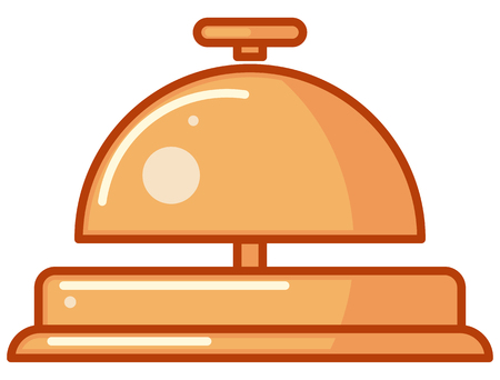 Concierge Bell Icon - Illustration as EPS 10 File