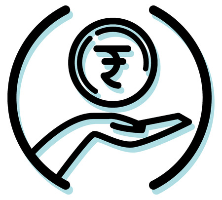 Venture Capitalist Funding Icon as EPS 10 File Illustration