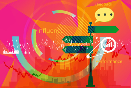 Business Decision Making Abstract - Illustration as EPS 10 File