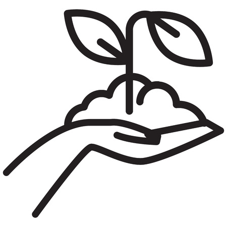 Hand Picked - Organic Farming - Illustration as EPS 10 File Ilustração