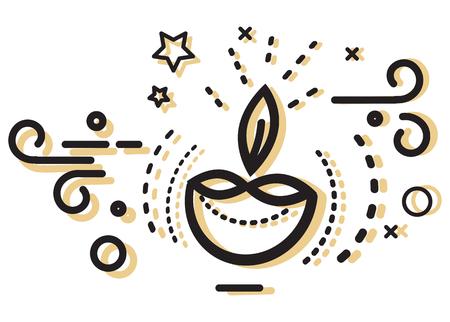 Diwali Diya Icon - Illustration as EPS 10 File