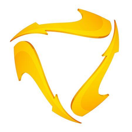 Set of Three Arrows - Illustration as   File Illustration