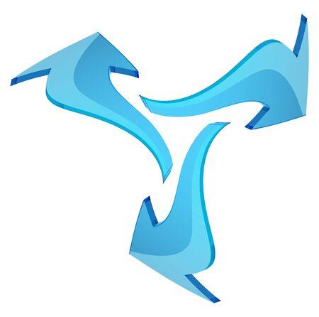 Set of Three Arrows - Illustration as   File Çizim