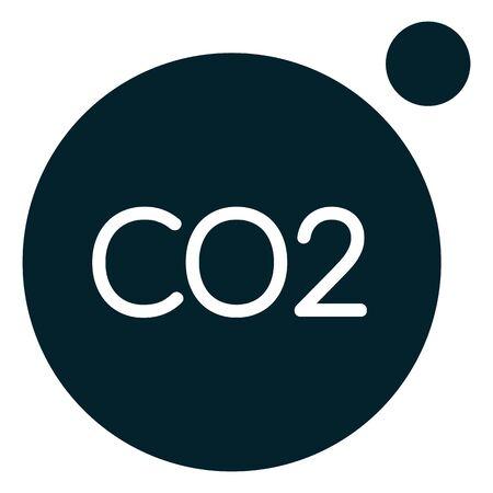 Carbon Dioxide C02 Emission - Icon as   File Ilustração