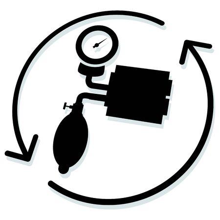 Blood Pressure Monitoring - Illustration  as   File Ilustrace