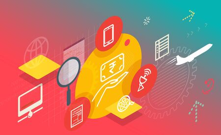 Bill Payment and Recharge Services Abstract Illustration as   File