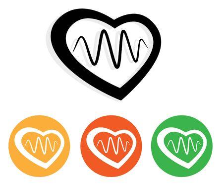 Heart Care -  Icon as   File Stock Illustratie