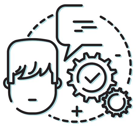Business Process Icon as EPS 10 File