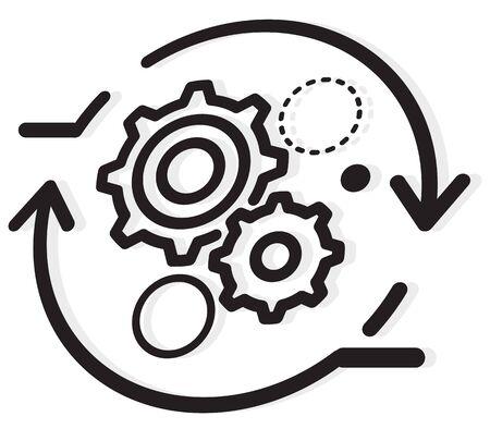 Process Optimization Gear Icon as EPS 10 File