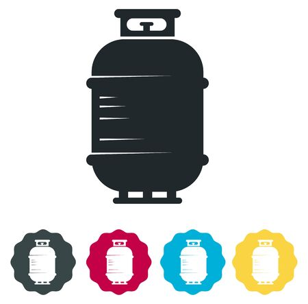 Cooking Gas Cylinder Icon as EPS 10 File