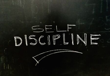 Self Discipline Handwritten on Blackboard stock photo as JPG File