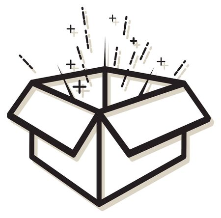 Business Concept - Out of the Box Idea - Icon as EPS 10 File